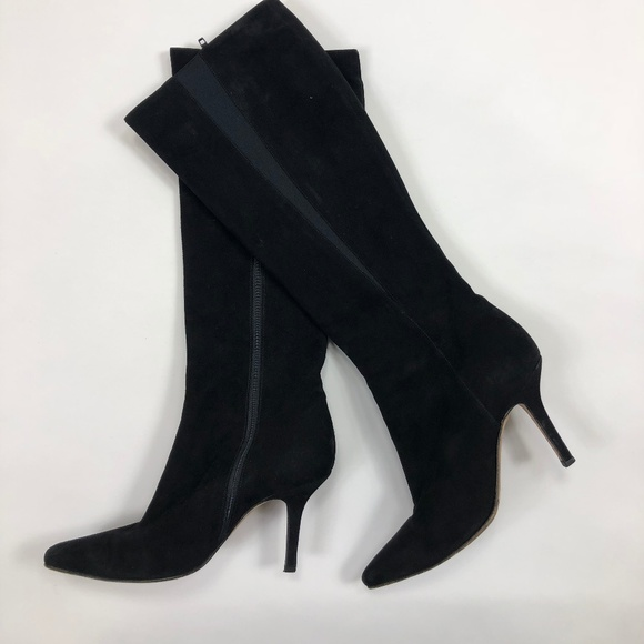 5a7f054e3ced Jimmy Choo Shoes - Jimmy Choo Black Suede Stiletto Boots